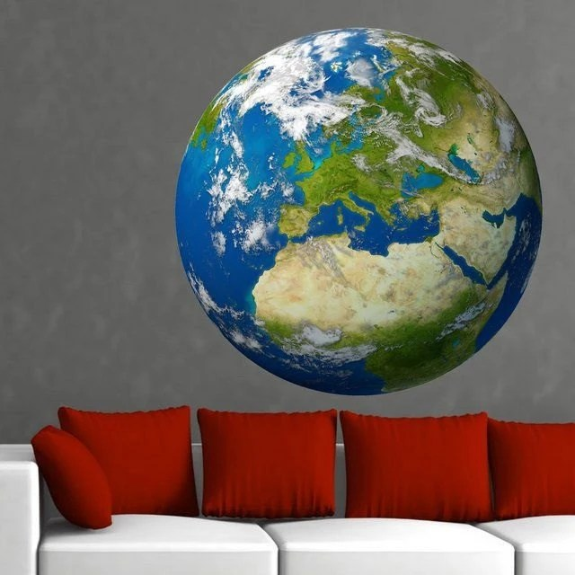 Wall Sticker Earth (3005ff) - artstickercouk