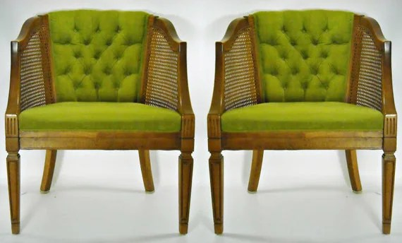 cane barrel chair stanley dining chairs mid century pair back tufted by silverbranchhome