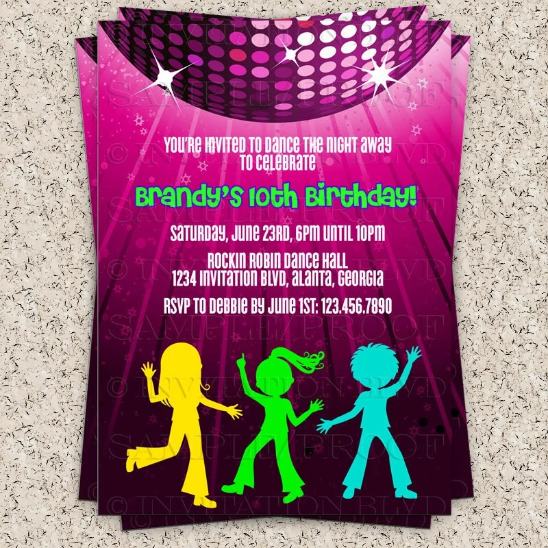 80s Party Invitations Templates