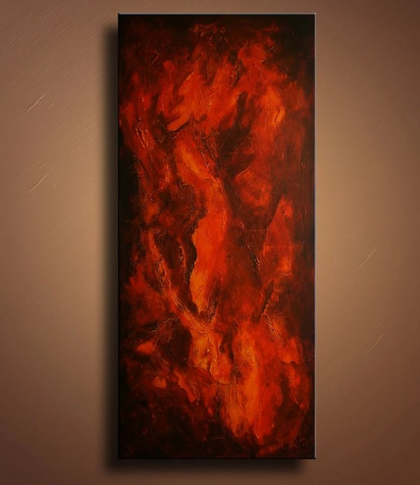 Original Textured Abstract Painting Canvas