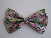 floral hair bow fabric