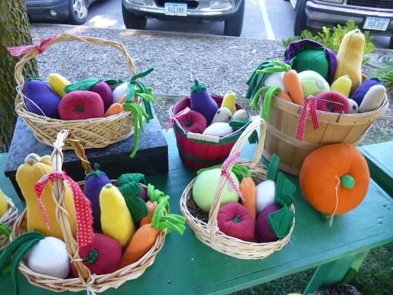 Farmers Market Basket of Veggies