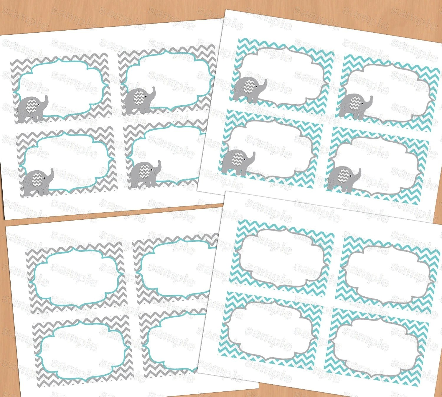 Printable Baby Shower Food Labels Place Card Blank Place