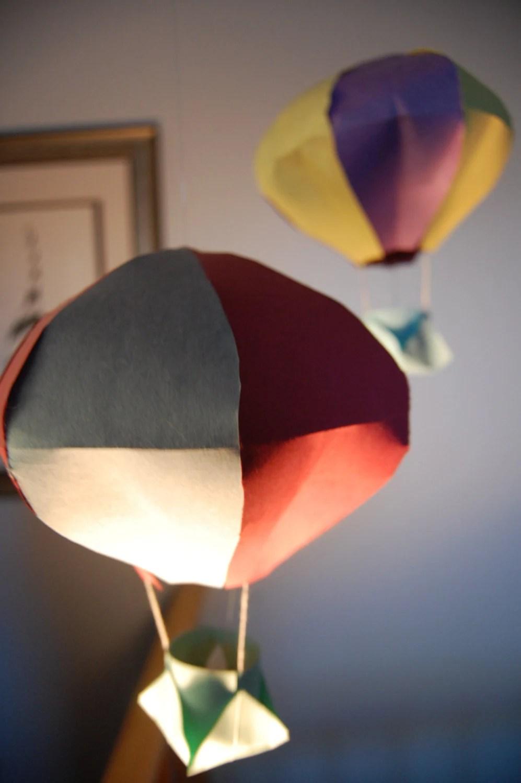 Custom Hanging Hot Air Balloon Tea Light Holder