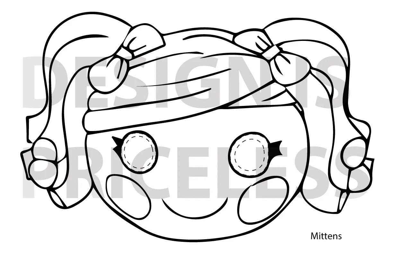 INSTANT DOWNLOAD Lalaloopsy Color and Cut Masks 6 masks