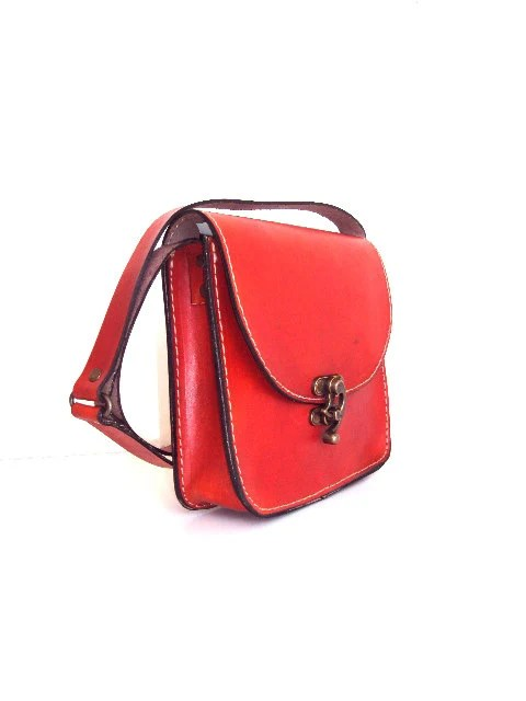 Orange Messenger Bag ,Medium Size ,Shoulder Bag ,for her ,women ,mothers day gift ,for mom ,100% handmade ,MADE TO ORDER - ammaciyo