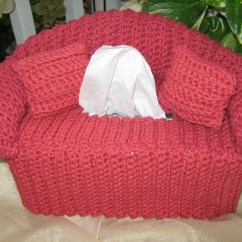 Crochet Sofa Cover Patterns Leather 2 Seater Recliner Couch Tissue Box Red