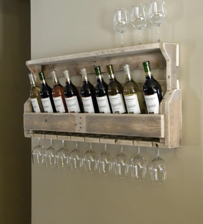 Wine Rack Reclaimed Pallet Wood Pallet Wine Rack Unique Wine Rack Rustic Decor Repurposed