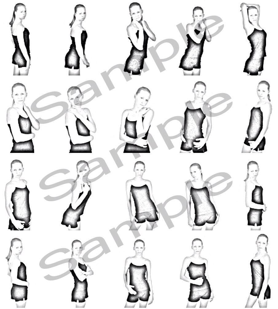 Posing Guide Photographers Model Poses PDF Cheat Sheet