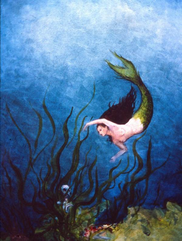 Mermaid Oil Painting