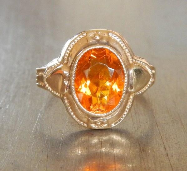 Antique Citrine Ring Engagement Vintage