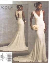 Vogue Bridal Original Pattern V1032 Womens V by CloesCloset