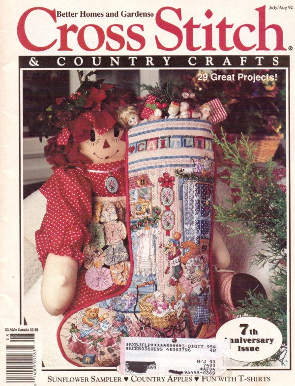 Cross Country Stitching Magazine 90s Stitch - Year of Clean