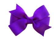 3 purple hair bow