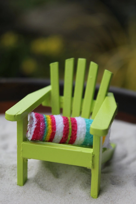Miniature Beach Towel for your Beach Scene or Wedding Cake