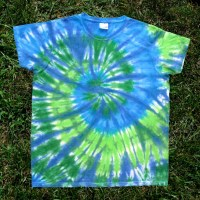 Blue And Green Tie Dye