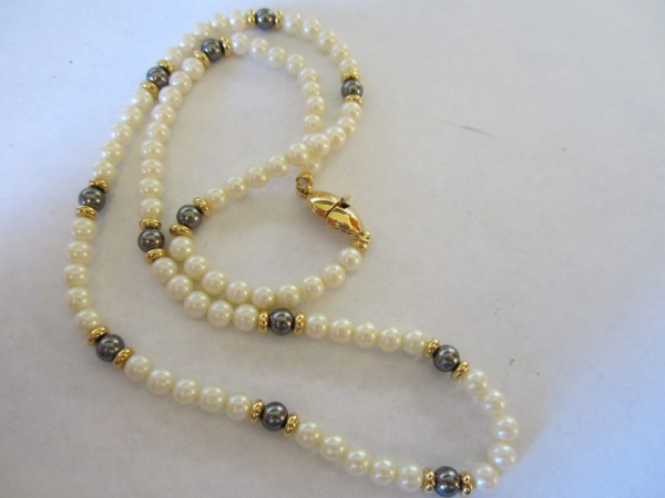 Vintage Pearl Necklace Costume Jewelry Monet 1980'