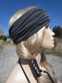 Black Leather Hair Wraps Braid Tie Beaded Ponytail Holder Hair