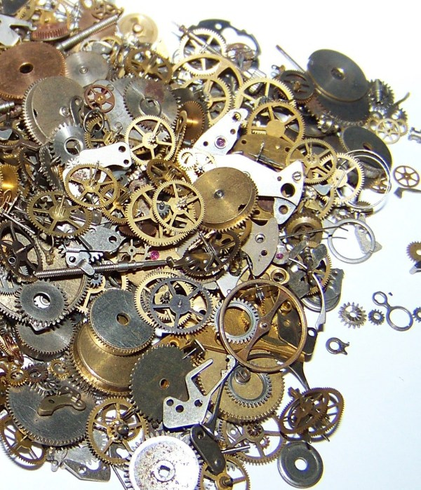 Watch Gears Steampunk Parts 85 Pieces Cogs Artist' Lot
