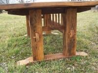 Antique Oak Mission Style Trestle Table