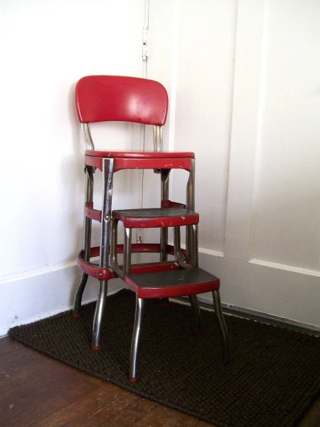 red kitchen stools vintage red kitchen step stool cosco furniture retro mid