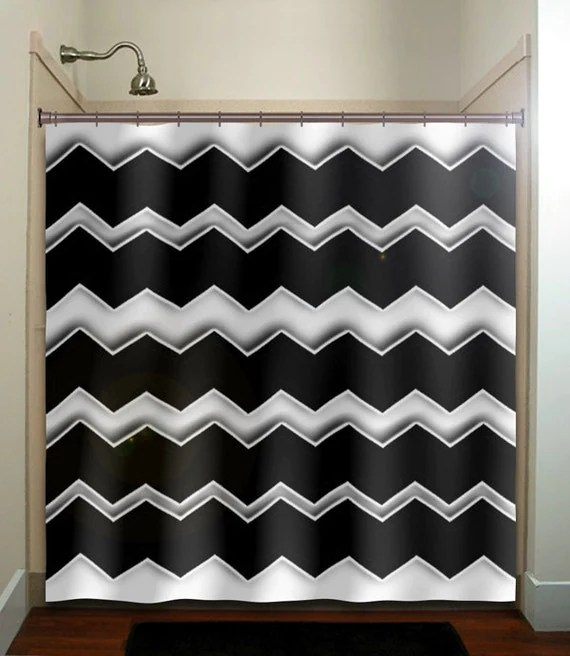Any Custom Colors chevron shower curtain by TablishedWorks on Etsy