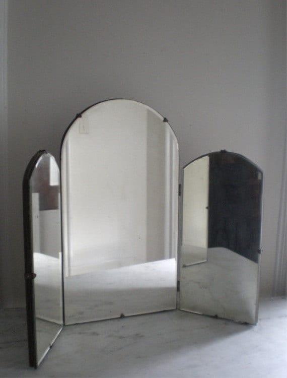 Antique TriFold Vanity Mirror