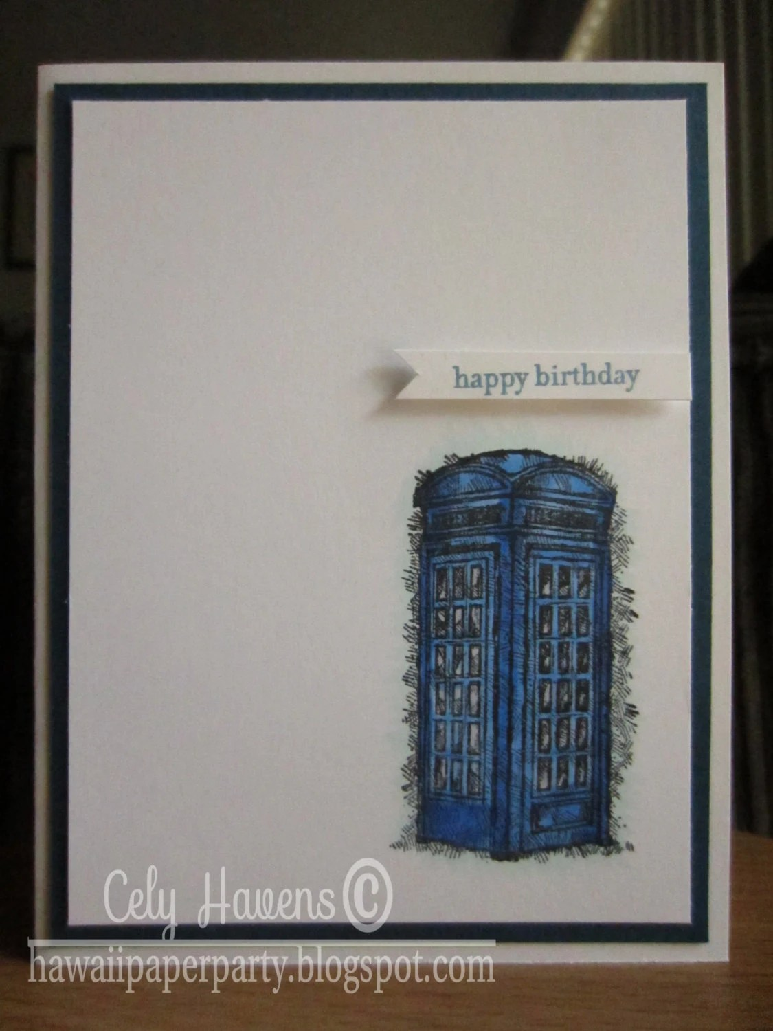 TARDIS Birthday Card Dr Who Dr Whovians Handmade Happy