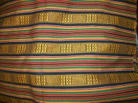 Woven Kente African fabric per yard cloth of by ...