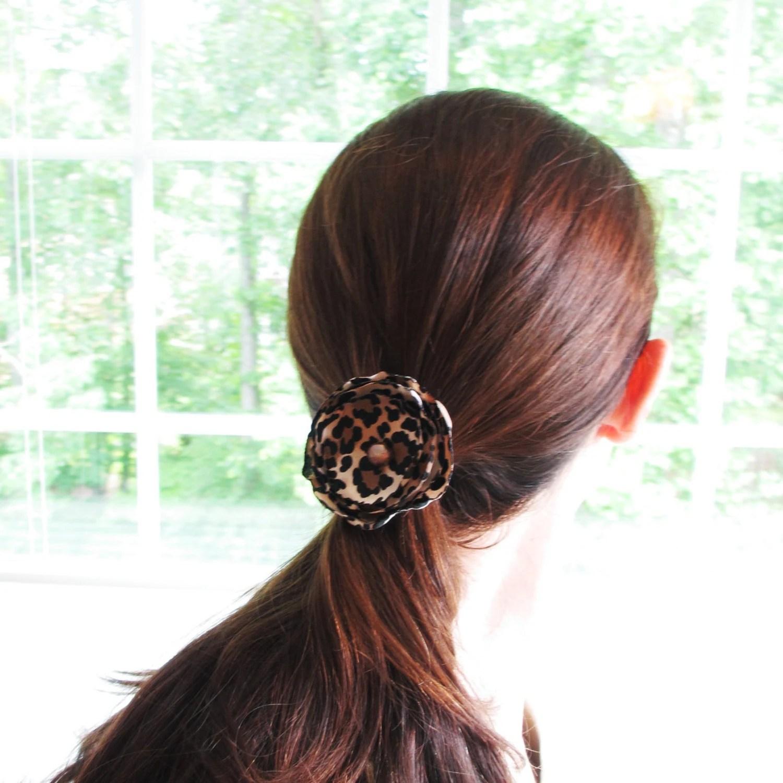 Leopard Flower - Clip or Headband - Ready to Ship - poppyandpurl