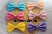 solid color fabric hair bowspastel