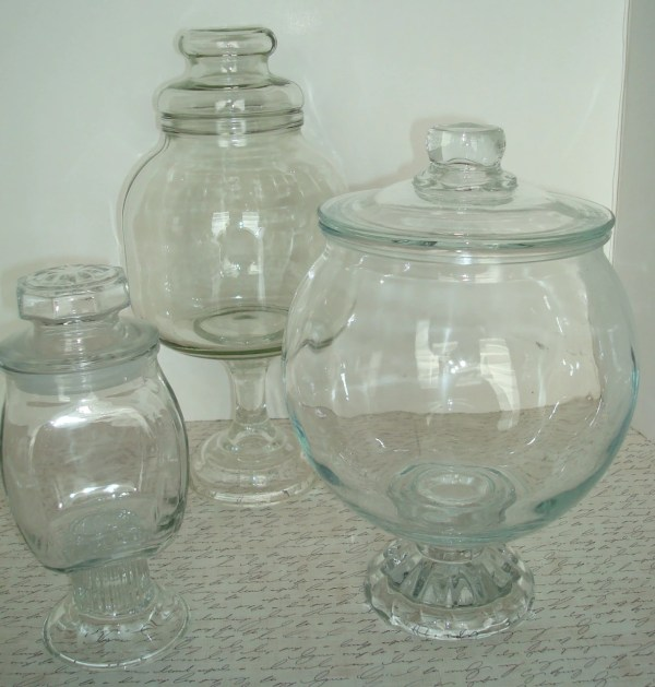 Vintage Apothecary Candy Jars Display