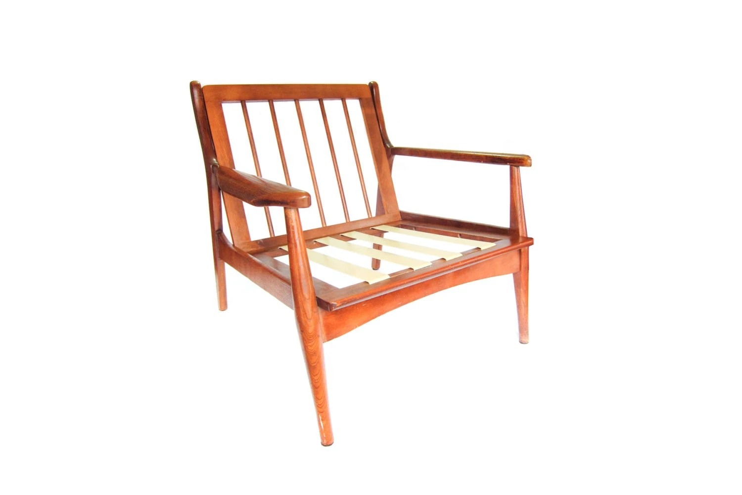 Wooden Lounge Chair Vintage Danish Modern Wood Lounge Chair