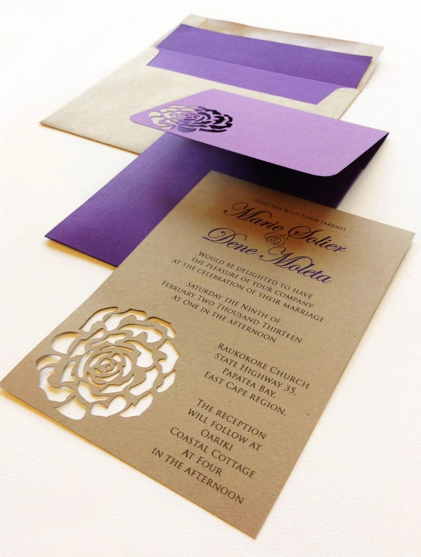 Rose Wedding Invitation Wedding Invitation Wedding