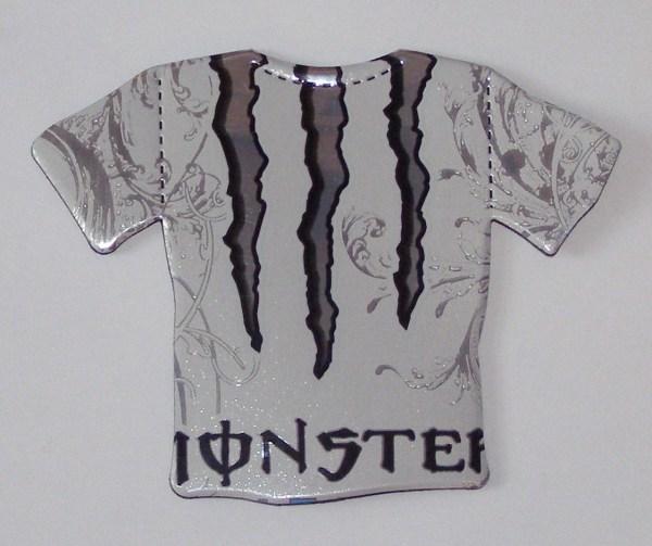 T-shirt Magnet White Monster Energy Drink
