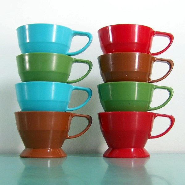 1970' Vintage Solo Cup Holder Cozy Cups Set Of