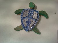 Items similar to Beer Bottle Cap Turtle Wall Art on Etsy