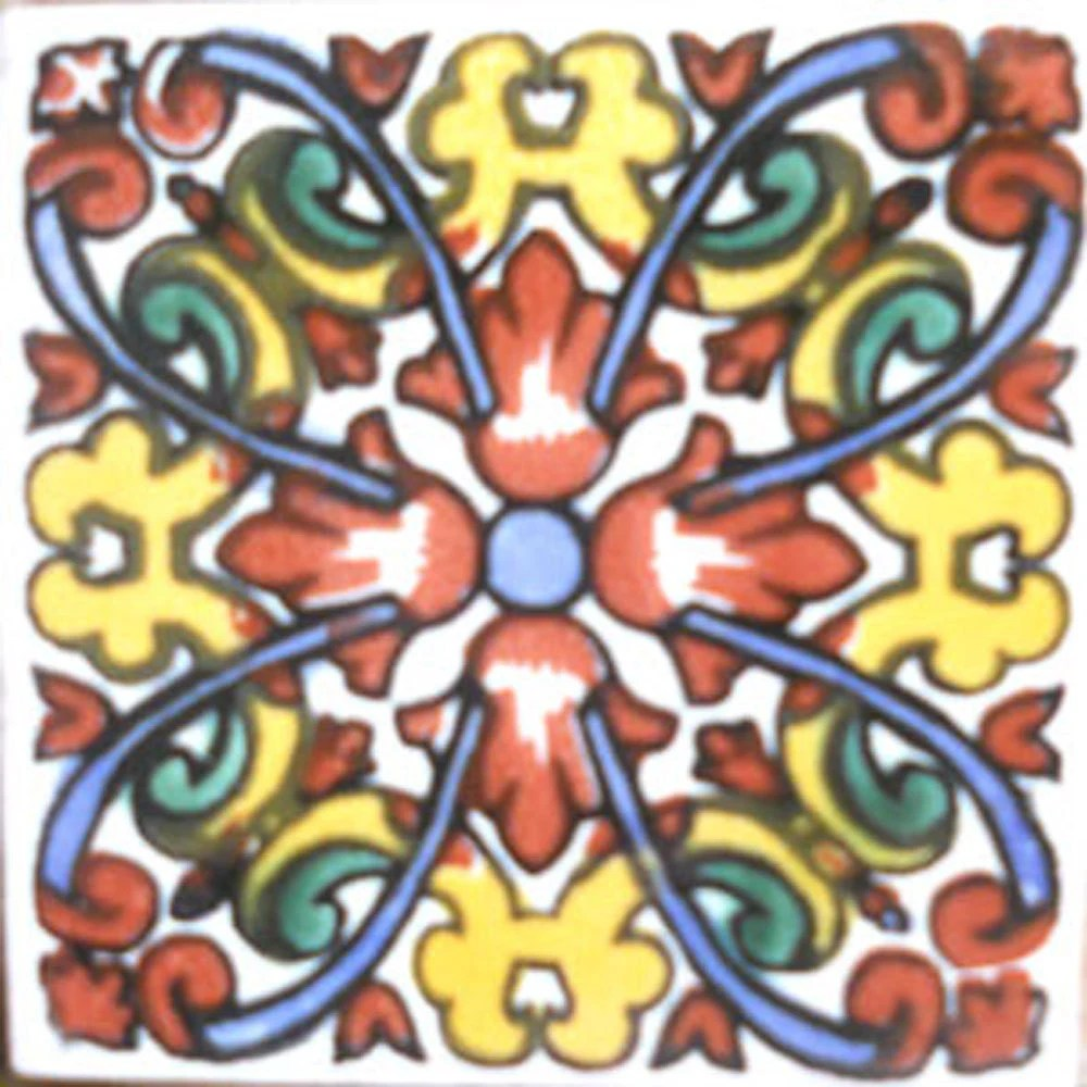 90 Talavera Mexican Hand Painted Tiles 4 X 4