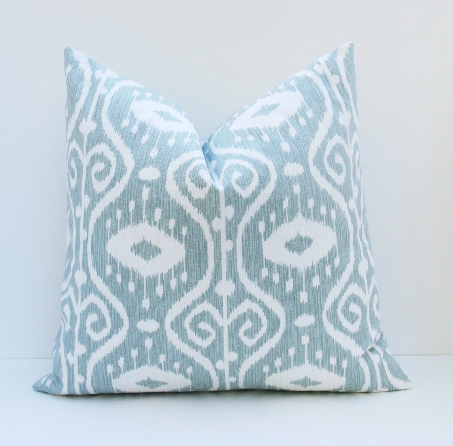 Euro Pillow Sham ONE 26x26 Pillow Cover Blue Green by EastAndNest