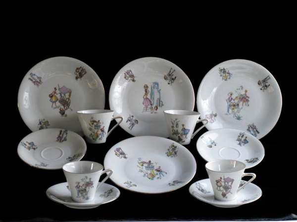 Art Deco Luncheon Dish Set Vintage Dishes Winterling Bavaria