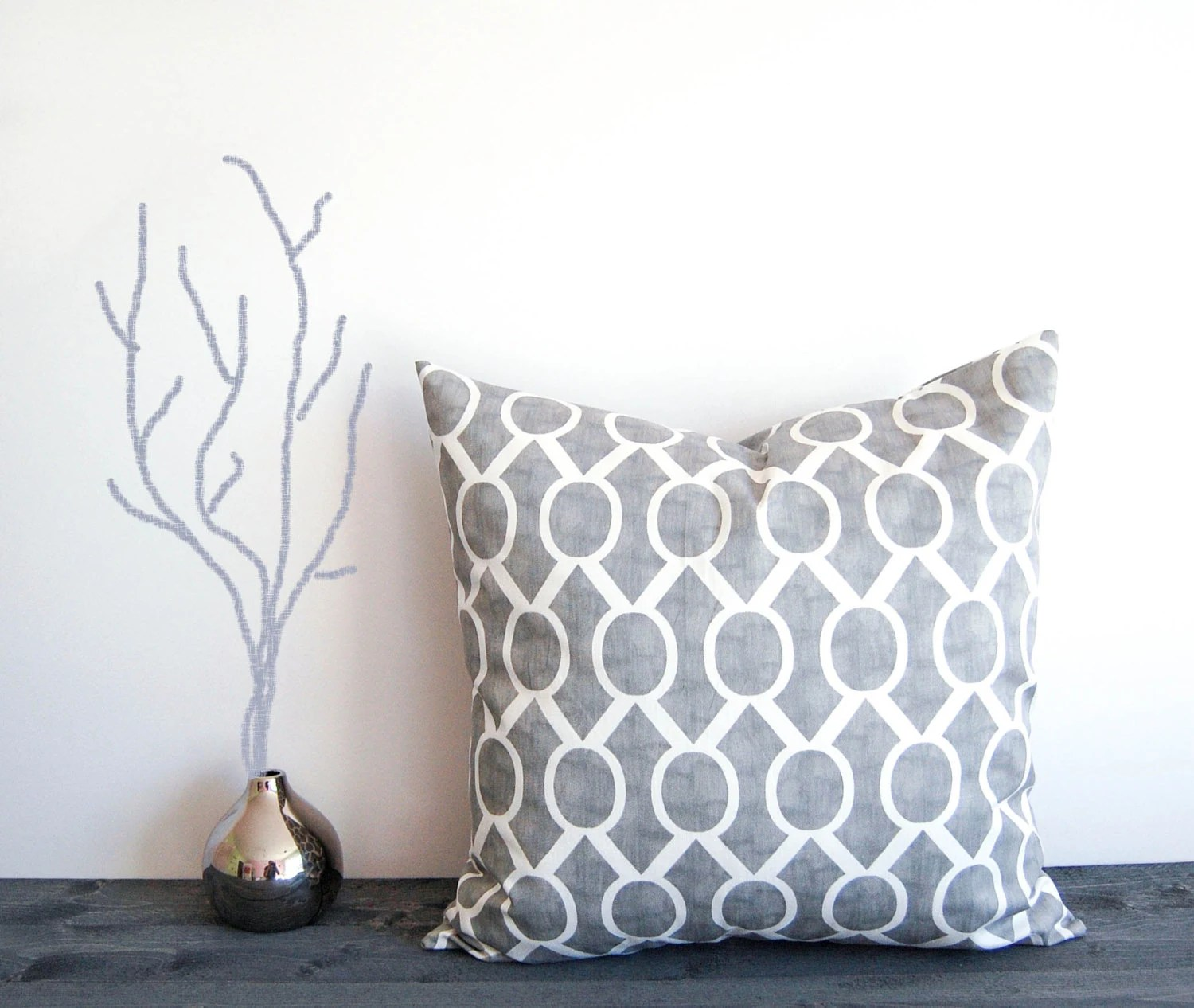Items similar to Gray throw pillow cover 20 x 20 One