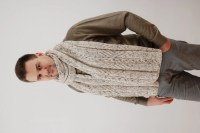 Extra Long Mens Scarf. Chunky Wool Scarf. Hand Knit Scarf.