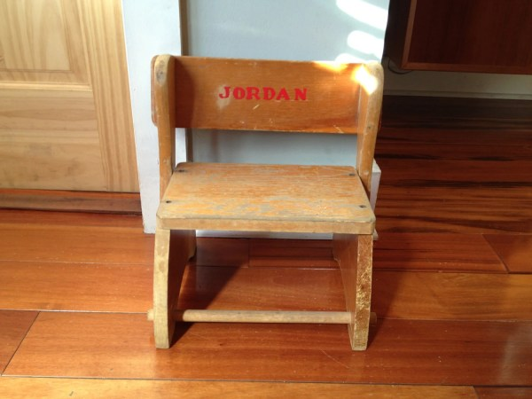 Antique Wooden Step Stool Chair