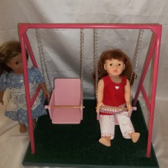 American Girl High Chair Office Chairs Ergonomically Correct Swing Set For Doll And All 18 By
