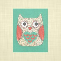 Items similar to Cute owl print