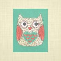 Items similar to Cute owl print- kids wall art, nursery ...