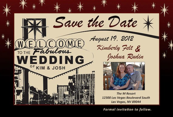 Save Date Cards Las Vegas Wedding
