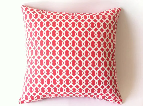Euro Sham Coral Decorative Pillow Cover 24x24 or by