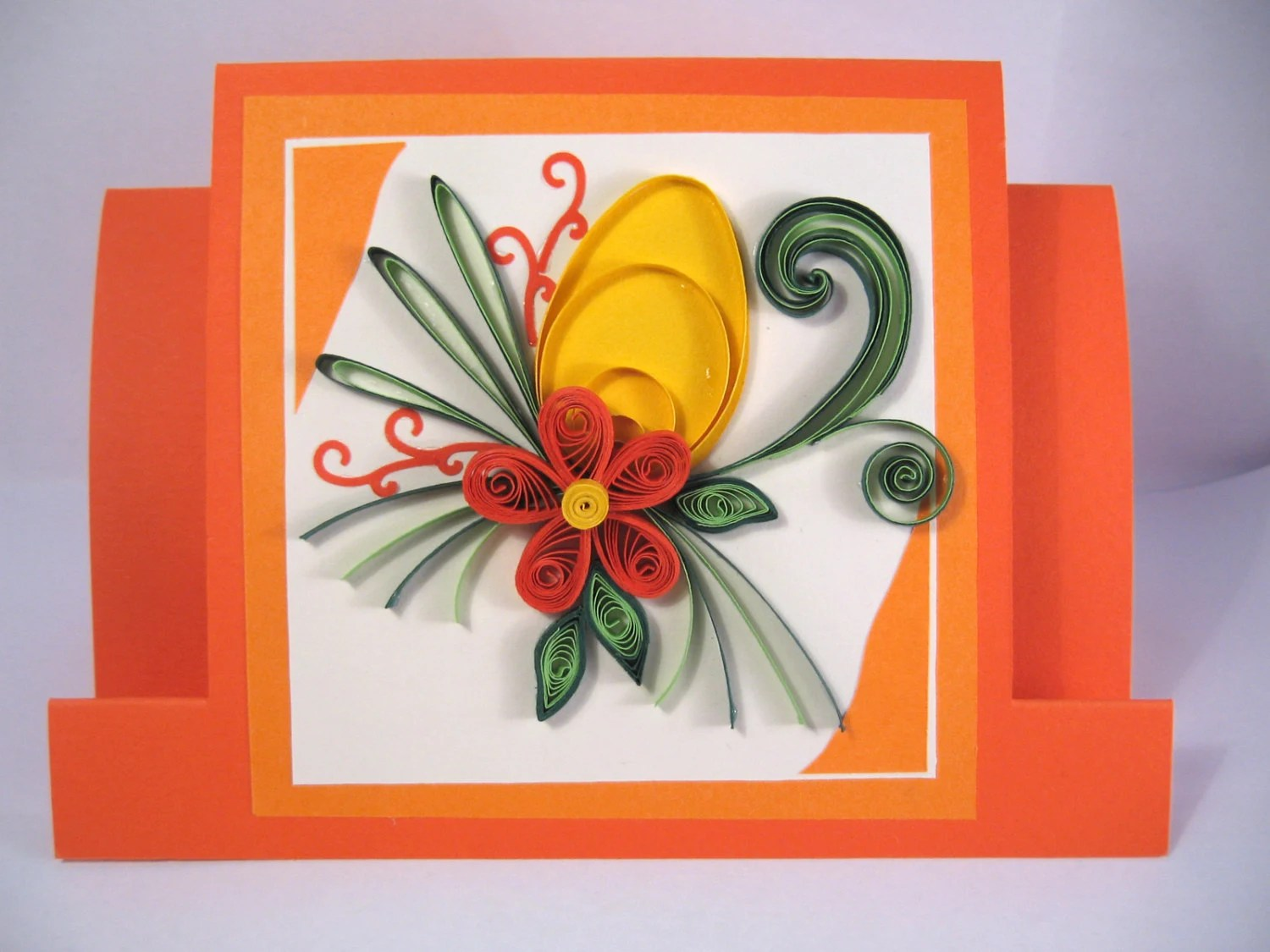 Easter Card Paper Handmade Greeting Card Quilled Egg