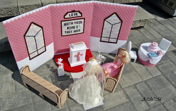 Barbie Wedding Chapel Church  Reception Fashion Doll